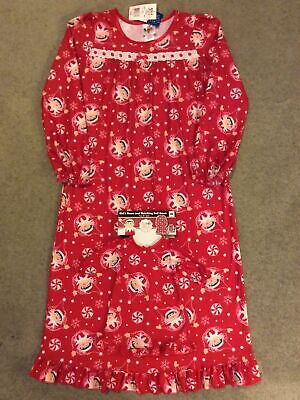 NWT Elf On The Shelf Girls Size 10 Fleece Nightgown Matching Doll Gown Christmas