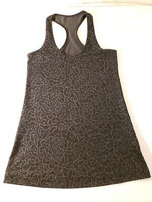 b06cb0f0d1 Lululemon Athletic Yoga Top Printed Black No Size Dot See Measurements