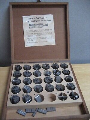 Vintage Kingsley Newport Hot Foil Machine Type Letters E