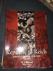 Republic to Reich : A History Of Germany******1939 Third Edition Butler Wanneroo Area Preview