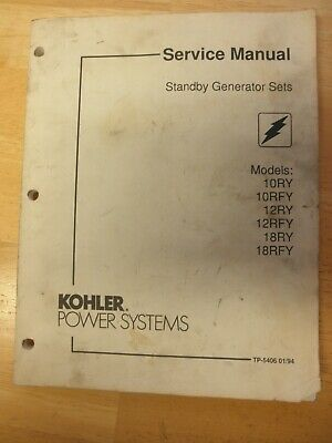 Kohler Service Manual Standby Gen Set 10ry 10rfy 12ry 12rfy 18ry 18rfy