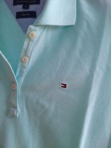 Poloshirt TOMMY HILFIGER Damen Kurzarm Slim Fit Türkis Gr. S - Graz-Puntigam, Österreich - Poloshirt TOMMY HILFIGER Damen Kurzarm Slim Fit Türkis Gr. S - Graz-Puntigam, Österreich