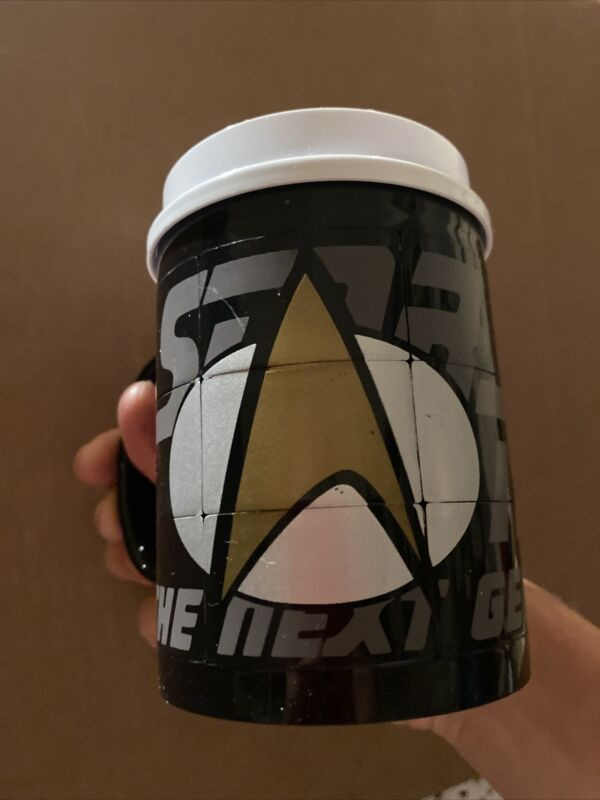 Vintage Star Trek Collectable Cup Mug Paramount Pictures Rare 1998 Slider Puzzle
