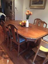 Gorgeous OAK antique dining table, 6 chairs and sideboard Yarraville Maribyrnong Area Preview