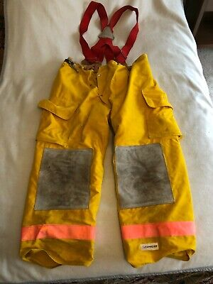 Express Firefighter Emt Insulatedthermal Yellow Turnout Pants Wred Suspenders