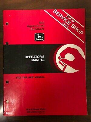 John Deere Manual 865 Bulldozer Oma43535