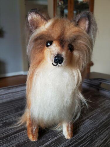 Vintage 1968 KAMAR Mohair Plush Collie Pomeranian Dog Stuffed Animal JAPAN