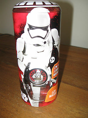 Star Wars Stormtrooper Watch w/collectible coin bank tin....Retail 25.00