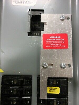 Sd-200vl Square D Generator Interlock Kit 150 Or 200 Amp Qo Panel Listed