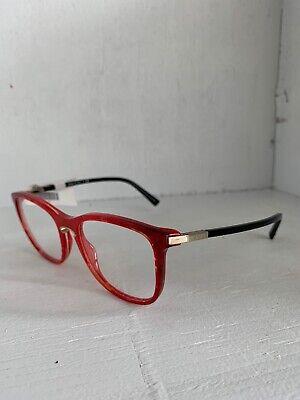 Valentino VA 3003 5033 Cat Eye Red And Black Eyeglasses Optical Frame (Black And Red Eyeglasses)