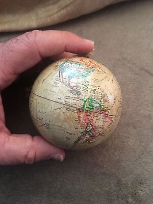 "3"" Tan Globe World Christmas Ornament Unbranded World Earth New Baseball Size - Baseball Christmas"