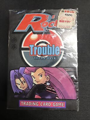 Pokemon card lot collection Trouble theme deck team rocket near mint