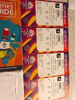 Commonwealth games tickets- athletics