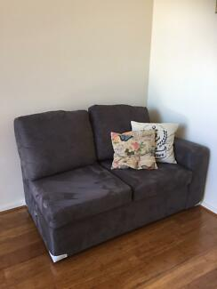 L-shape suede couch