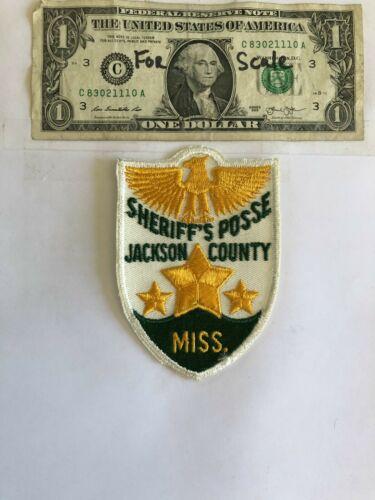 Rare Jackson County Mississippi Sheriff