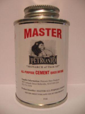 Master All Purpose Cement 4Oz Brush In Can   Shoe Repair Cement  Shoe  Glue