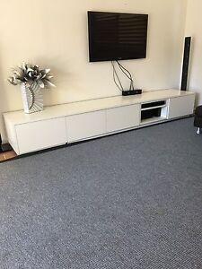 White Modular TV Unit / storage Unit North Narrabeen Pittwater Area Preview