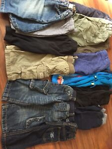 A bundle of fall clothes for boys 6-12 months