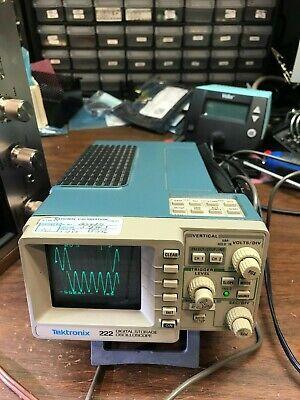 Tektronix 222 Digital Storage Oscilloscope Power Adaptor 2 Probes Carry Case