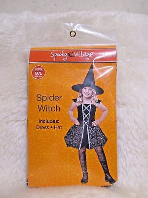 New for Sales - Spooky Village  - Spider Witch (Dress & Hat ) kids size : M/L  - Kids Dress For Sale