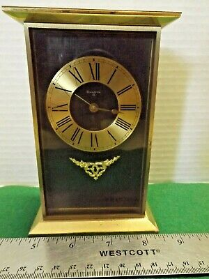 Brass Bulova 8 Desk Mantel Carriage Clock Vintage Does Not Work