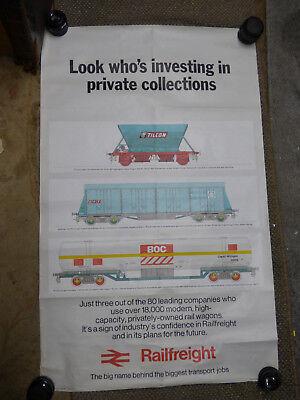 Railway poster RAILFREIGHT 1974 Original 2
