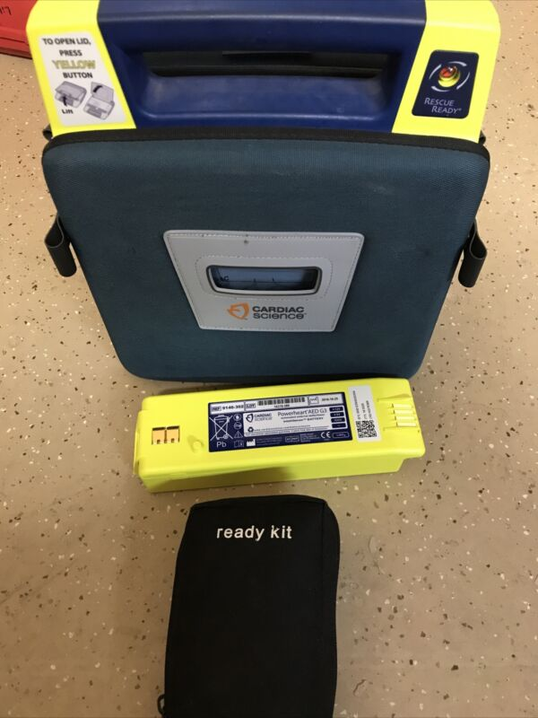 Cardiac Science Powerheart G3 AED - Recertified, Pads, Battery, Case 9390E-501