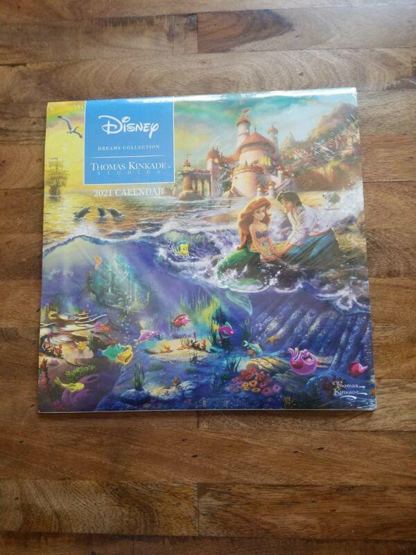 Disney: Thomas Kinkade 2021 Sealed Princess Stories Animation Art Calendar NEW