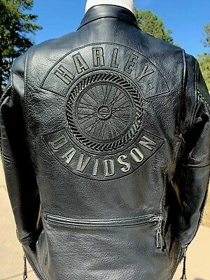 Harley Davidson Women's Willie G WHEEL Leather Jacket 98015-06VW Large