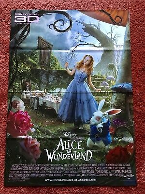 Kinoplakat Poster A1, Tim Burton, Walt Disney, Johnny Depp (Alice Im Wunderland Poster)