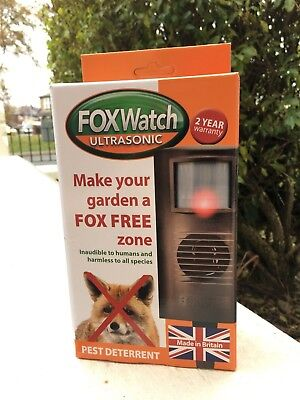 FOX WATCH DETERRENT REPELLER REPELLENT FOXWATCH SCARER ULTRA SONIC PEST