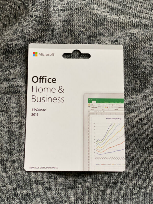 Microsoft Office Home and Business 2019 compatible Windows or Mac1 USER RETAIL