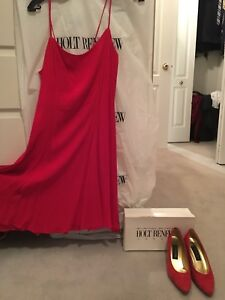 Designer Dress from Holt Renfrew with matching shoes for sale