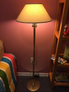 Mid Century Modern Floor Lamp with built in glass shelf