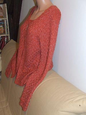 Magnifique pull / veste  tricoté main  laine melan phildar  taille 38 / 40