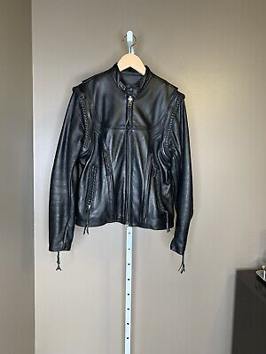 Harley Davidson Willie G Leather Jacket Women's Medium Made In The USA
