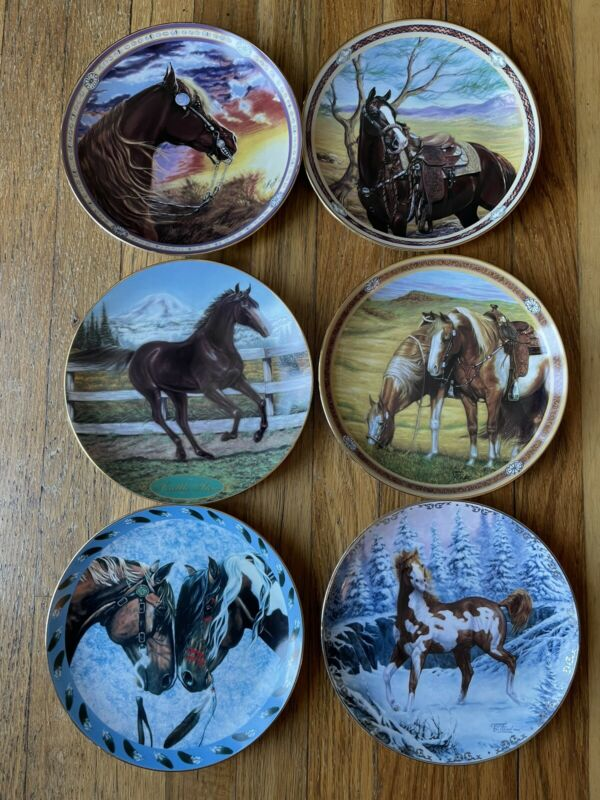 Lot of 6 Danbury Mint Horse Collector Plates
