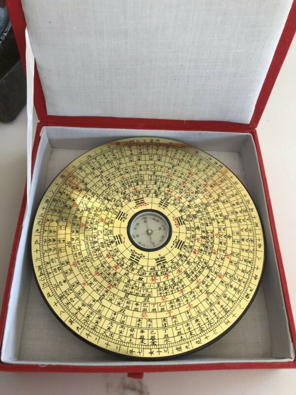 Bagua Compass Feng Shui Metal Chinese Lo Luo Ying Yang Luck New In Box