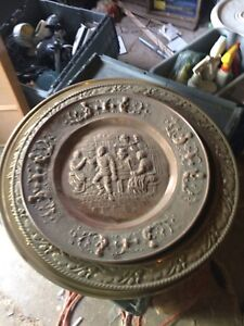 Brass and copper plaques for sale