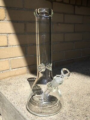 7MM Heavy Thick Glass Water Pipe Bong Beaker 12 Inch