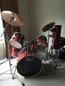 PEARL 5 piece Drum Set - Save hundreds in time for Christmas!! Mountain Creek Maroochydore Area Preview