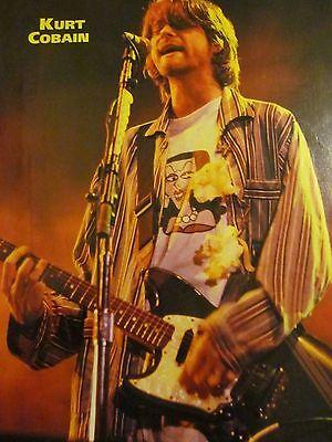 Kurt Cobain, Krist Novoselic, Nirvana, Double Full Page Vintage Pinup