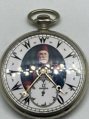 Rare Ottoman Turkish Ahmad Muhtar Pasha Award Antique Omega Pocket Watch