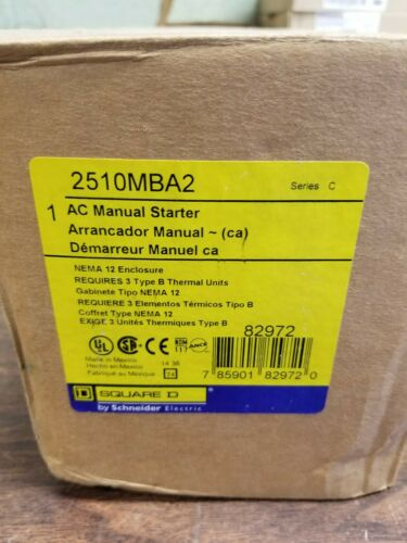 Square D Model: 2510 MBA2 AC Manual Starter Series C