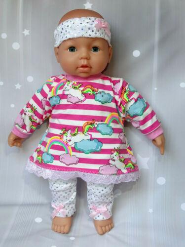 Puppe Kleid Hose Mütze Puppenkleidung Baby Born Reborn Babypuppe 43 bis 47cm