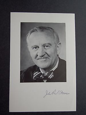 Associate Justice John Paul Stevens - US Supreme Court - Signed Chambers Photo