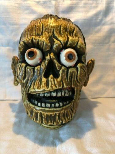 *BURNT ZOMBIE SKULL Tiki Mug~MUNKTIKI~6/100 Farm Walking Dead Head horror movie*