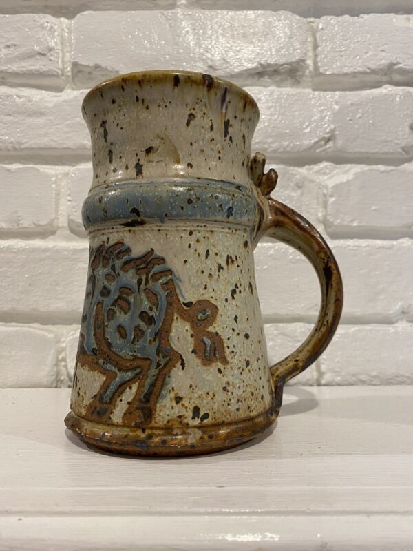 Vintage Extra Large Mug With Wild Boar On Front