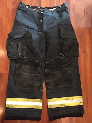 Firefighter Janesville Lion Apparel Turnout Bunker Pants 34x30 Black Costume