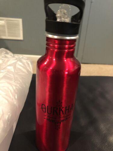 New Red Aluminum Water Bottle with Flip Straw Lid - Gurkha C